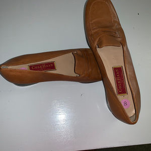 Cole Haan Size 8 brown loafers slip-on shoes USED
